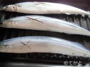 ココットプレート、秋刀魚三尾