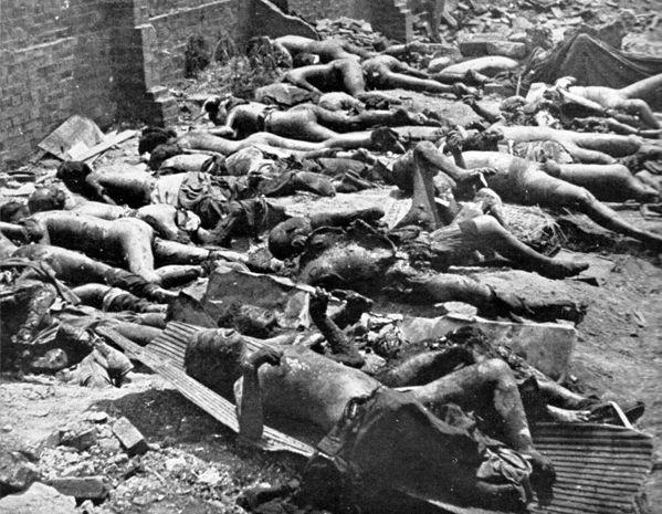 昭和20年5月25日 港区青山の惨状
