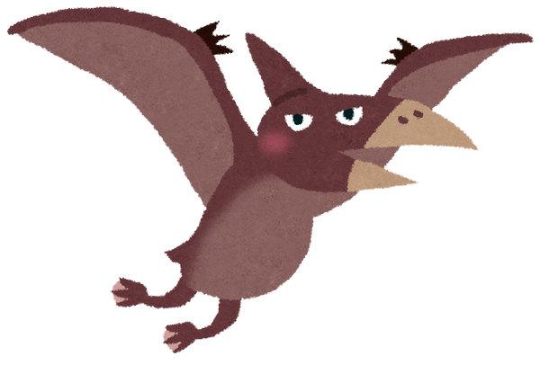 恐竜 プテラノドン いらすとや