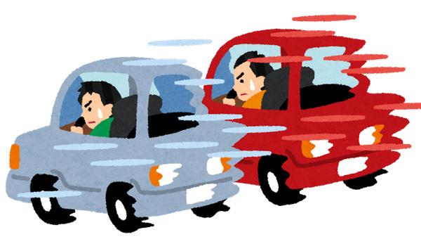 自動車 レース 危険運転 いらすとや