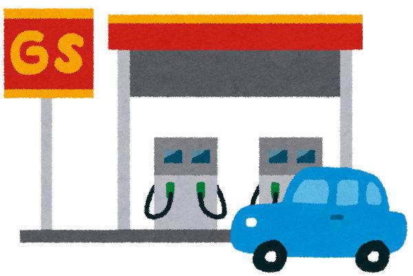 ガソリンスタンド いらすとや