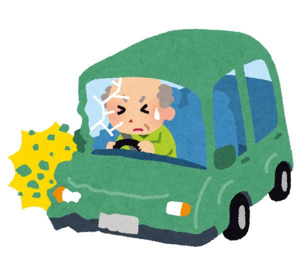 老人 高齢者 自動車 いらすとや