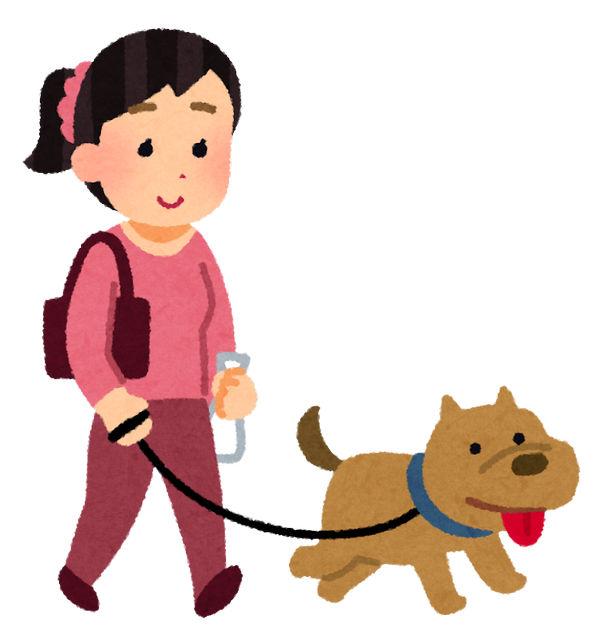 犬の散歩 ペット いらすとや