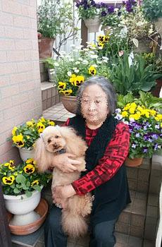 母とRoseキュン 4月トリム