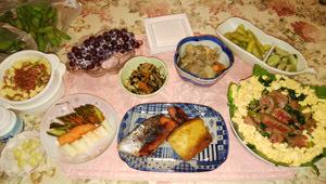 0624 ステーキひまわり丼 西京漬け魚