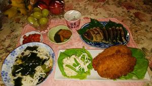 180901 晩御飯 ササミカツ ポテトサラダ