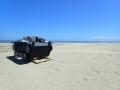 大洗の海に戦車