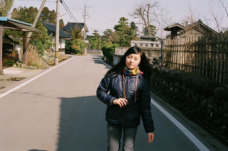 $フィルムカメラで嫁を撮る-嫁の実家周辺