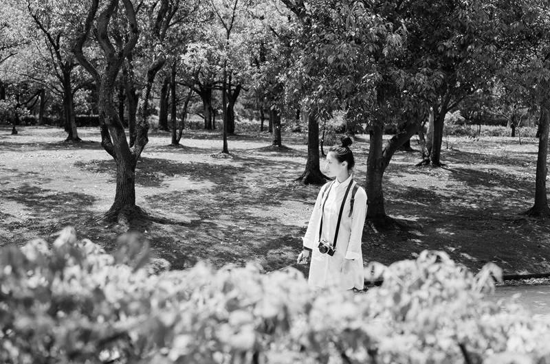 $フィルムカメラで嫁を撮る -YOME--福田公園