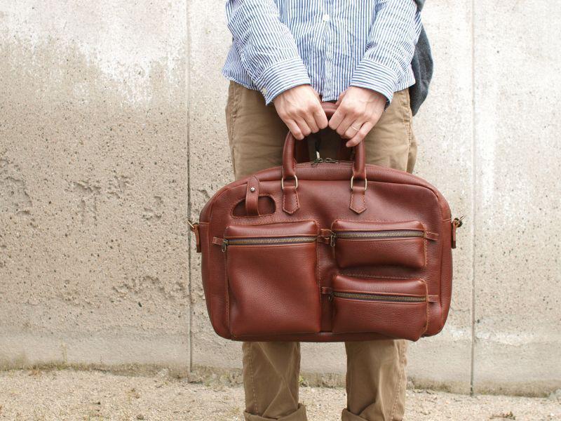 $フィルムカメラで嫁を撮る-鞄職人 バッグ