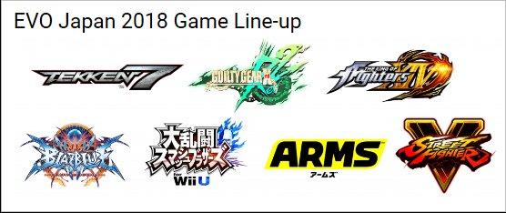 EVO Japan 2018 Game Line-up