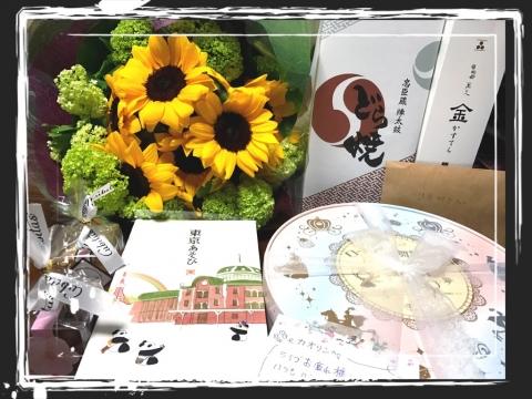 お花お菓子お手紙ありがとうございます!!