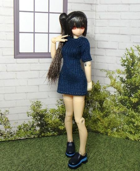 30_6_24 半袖ワンピース(青) 3