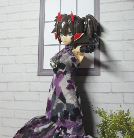 30_7_12 メガミデバイス用 紫色のドレス 6