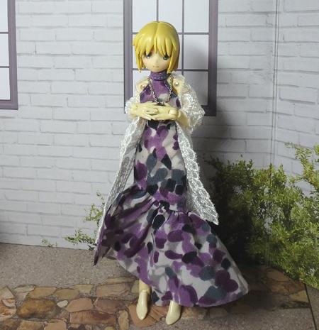 30_7_12 メガミデバイス用 紫色のドレス 8
