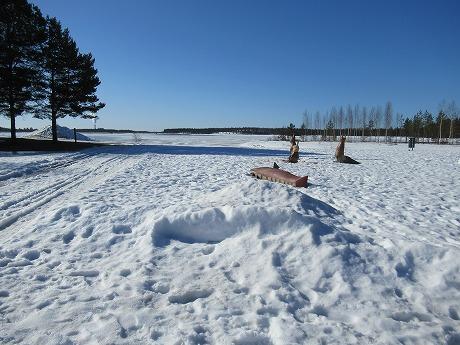青空と雪景色1