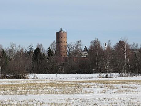 給水塔と時計塔