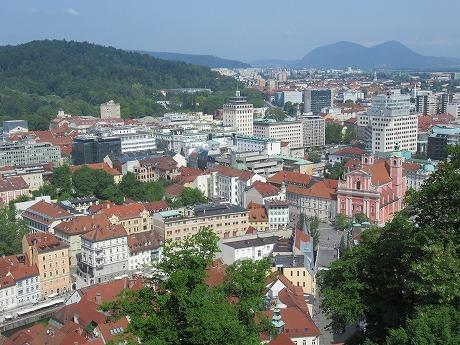 リュブリャナ城 上からの眺め