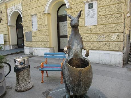 リュブリャナ旧市街カンガルー?