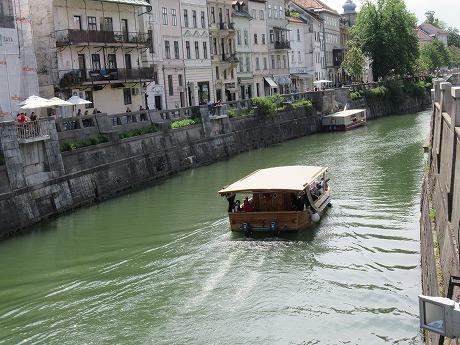 リュブリャナ旧市街 遊覧船