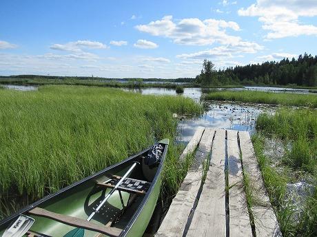 湖とボート2