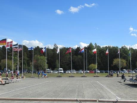 モルック世界大会国旗