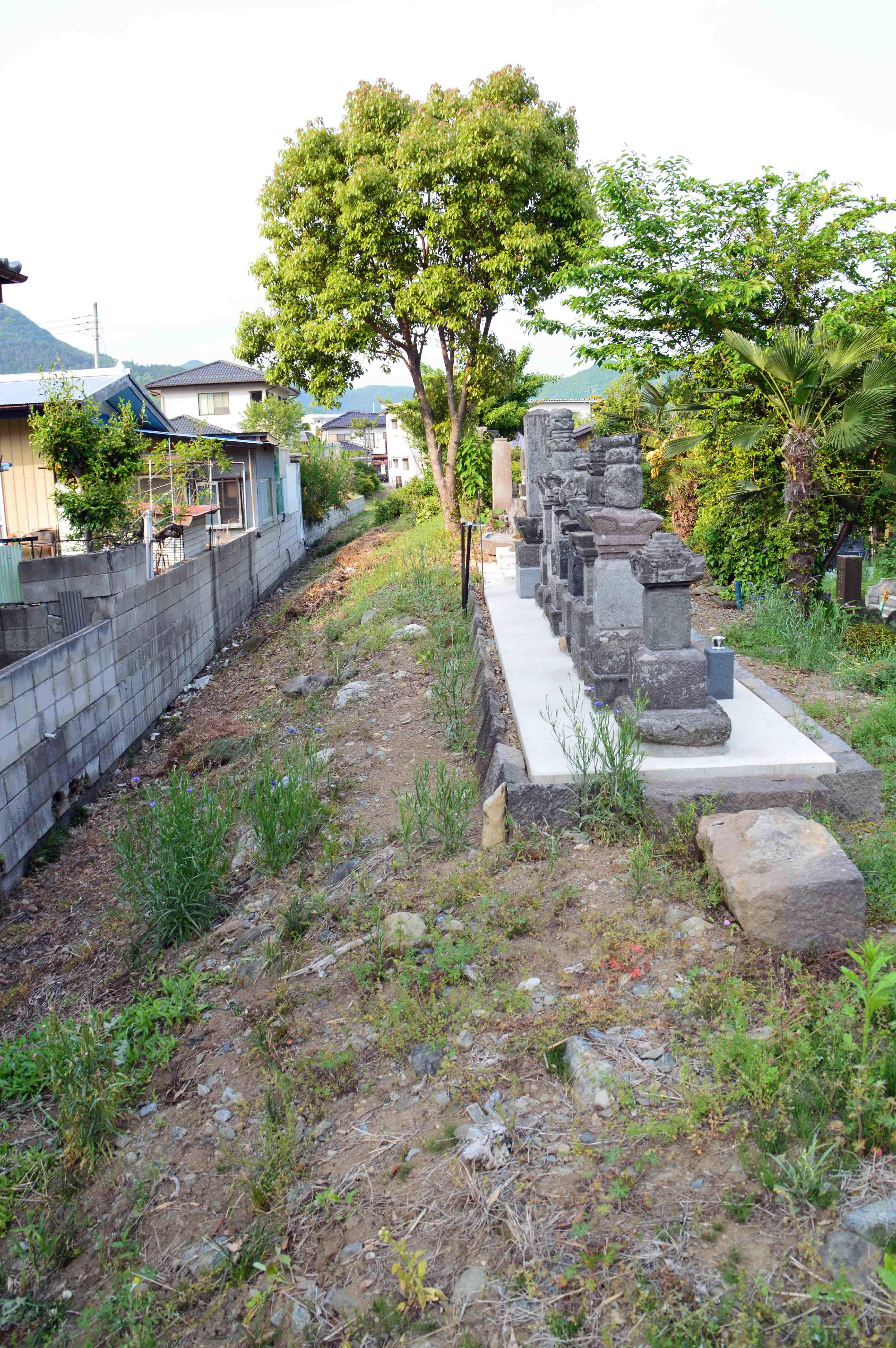 梅田館 土塁と堀