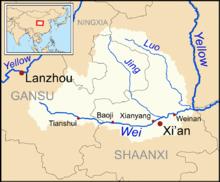 西安近辺地図