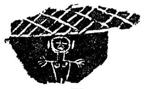 河南龍山文化の裸体絵陶器