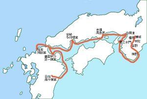 12神武天皇の東征ルート