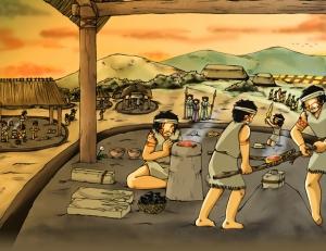 35 須玖岡本遺跡 鋳造イラスト