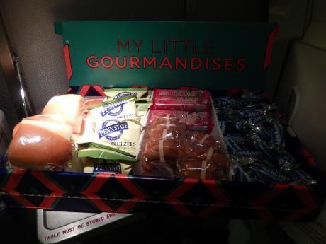 バルセロナ2017.9エールフランス・機内食