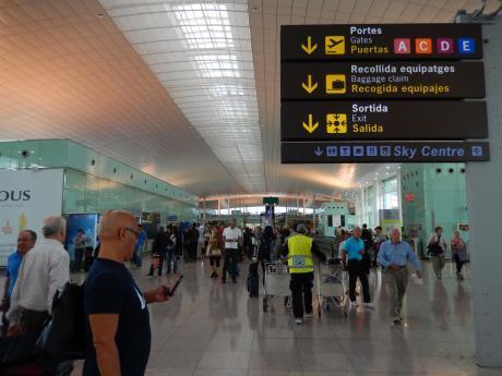 バルセロナ2017.9バルセロナ空港