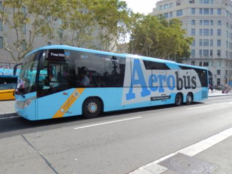 バルセロナ2017.9バルセロナ空港バス