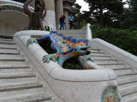 バルセロナ2017.9グエル公園