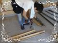 支え支柱の土台作り