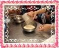 塩味パンケーキ材料混ぜる