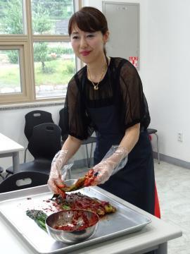 2018年7月3日 新開ミヤ子先生 麗水でキムチ作り