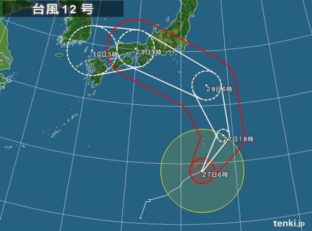 #台風12号曲がり過ぎ1