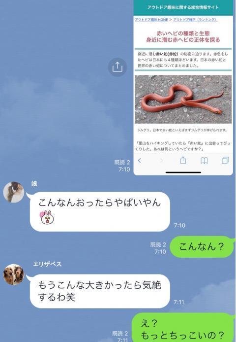 #蛇!?出たー1