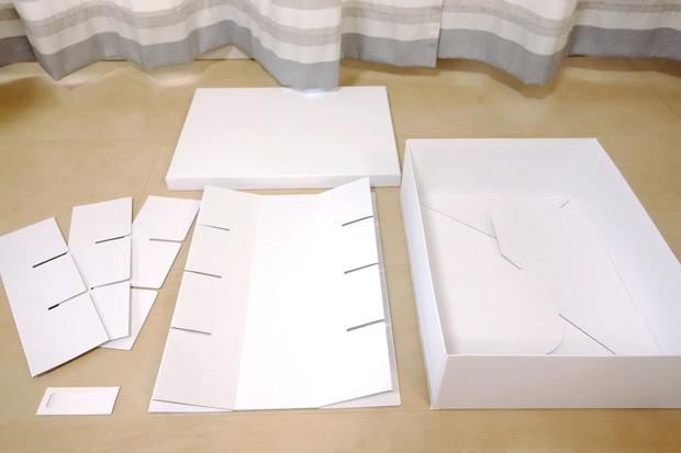 IKEA・TJENA ボックス 仕切り付き, ホワイト①