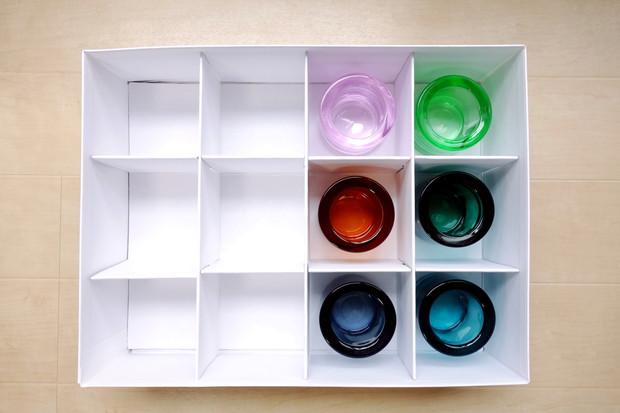 IKEA・TJENA ボックス 仕切り付き, ホワイト・kivi収納①