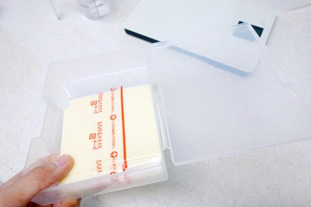 ダイソー・はがき整理ケース・チーズ収納①