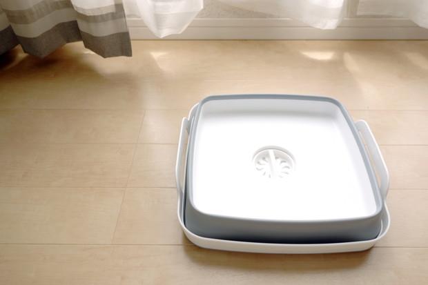 グレー・折りたたみ洗い桶①