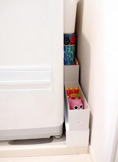 ニトリ・ウォールシェルフ・洗面所・洗濯機横・おもちゃ収納①
