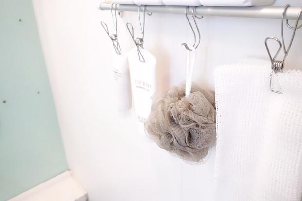 キャンドゥ・泡立ちネットボール・浴室・吊るす収納②