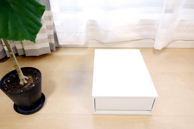 無印・ポリプロピレンケース・引出式・浅型・ホワイトグレー (V)約幅26×奥行37×高さ12cm③
