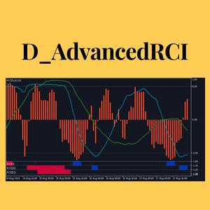 D_RCI:RCIに3本のRCIをまとめて表示する機能と買われ過ぎ/売られ過ぎのサインを表示する機能を追加したMT5インジケーター