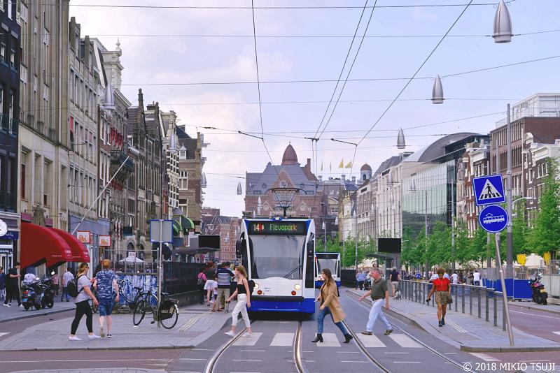 絶景探しの旅 - 0656 路面電車が生活に溶け込む街  (オランダ アムステルダム)