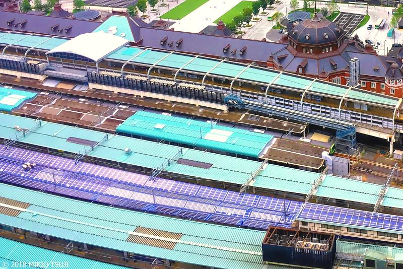 絶景探しの旅 - 0660 水色の東京駅の風景 (東京都 千代田区)